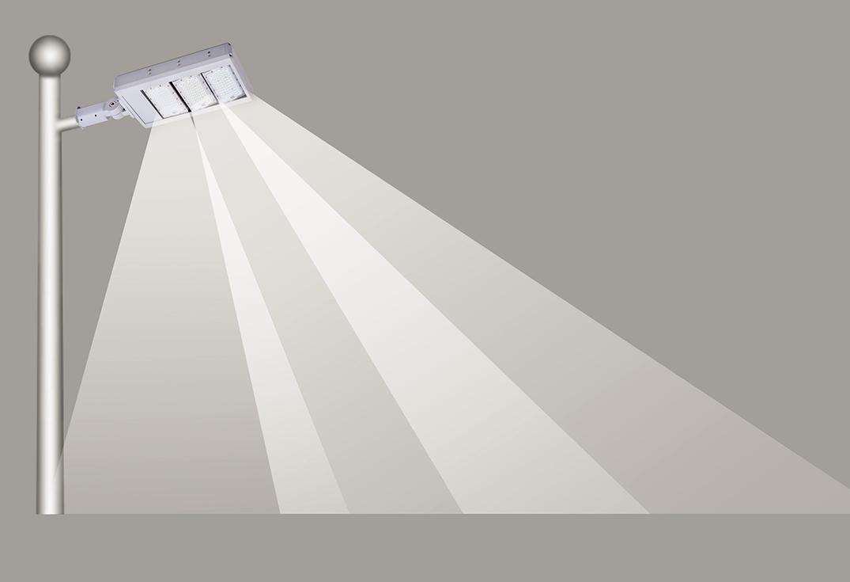 lampadaire streetlight led stopled