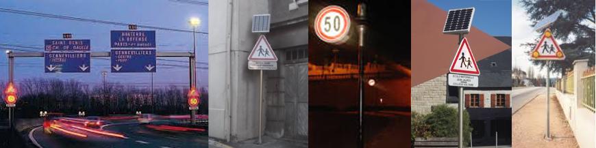Panneaux lumineux routiers à led Stop Led