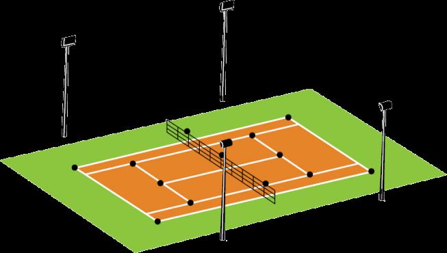 terrain tennis 4 mats