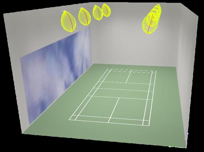 badminton eclairage